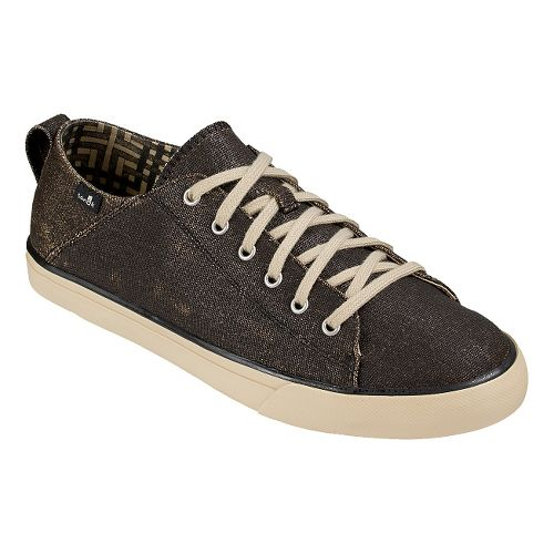 Mens Sanuk Staple TX Casual Shoe - Black Coated Canvas 11