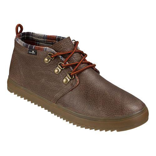 Mens Sanuk Cargo Deluxe Casual Shoe - Dark Brown 11