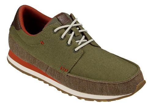 Mens Sanuk Beer Runner Casual Shoe - Olive/Brown 8