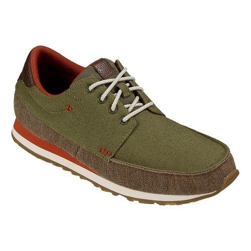 Mens Sanuk Beer Runner Casual Shoe - Olive/Brown 13