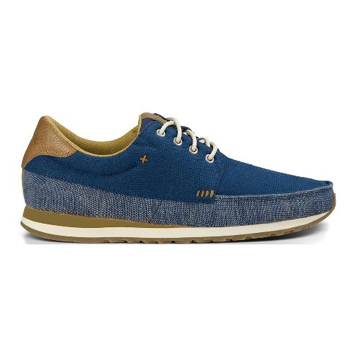 Mens Sanuk Beer Runner Casual Shoe - Navy/Tan 11