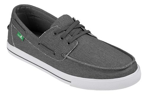 Mens Sanuk The Sea Man Casual Shoe - Charcoal Washed 9