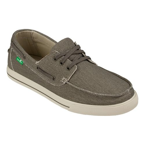 Mens Sanuk The Sea Man Casual Shoe - Charcoal Washed 10