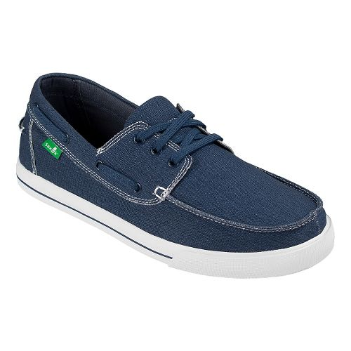 Mens Sanuk The Sea Man Casual Shoe - Navy Washed 9.5