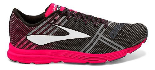 Womens Brooks Hyperion Racing Shoe - Black/Pink 9