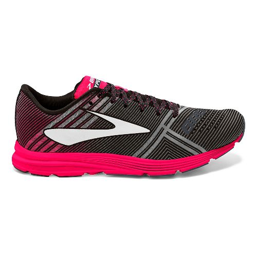 Womens Brooks Hyperion Racing Shoe - Black/Pink 11.5