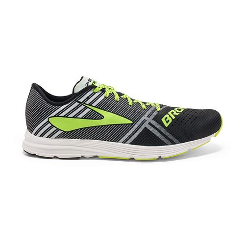 Womens Brooks Hyperion Racing Shoe - Black/White 9