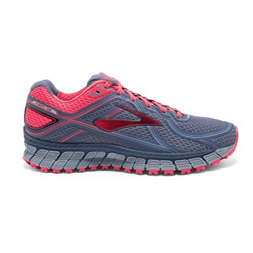 Womens Brooks Adrenaline ASR 13 Running Shoe - Blue/Berry 7.5