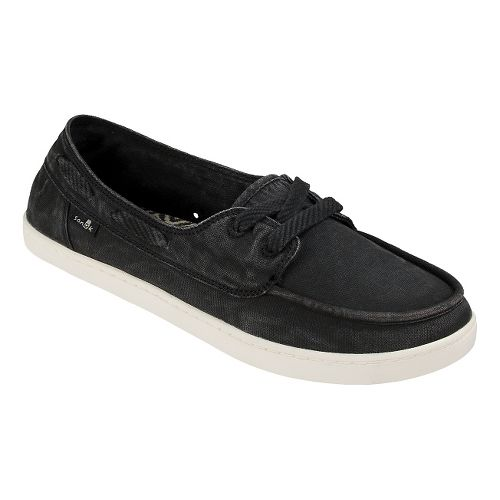 Womens Sanuk Pair O Sail Casual Shoe - Washed Black 7