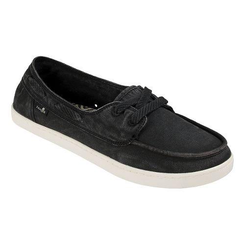 Womens Sanuk Pair O Sail Casual Shoe - Washed Black 9.5
