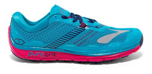 Womens Brooks PureGrit 5 Running Shoe - Peacock Blue/Virtual 6