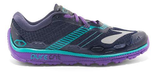 Womens Brooks PureGrit 5 Running Shoe - Grey/Purple 11.5