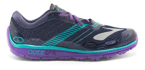 Womens Brooks PureGrit 5 Running Shoe - Grey/Purple 5