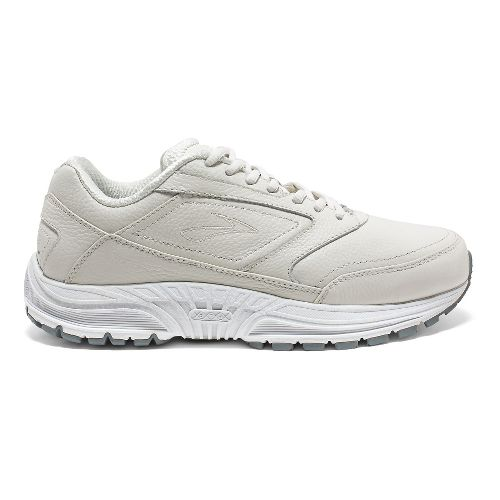 Womens Brooks Dyad Walker Walking Shoe - White 10.5
