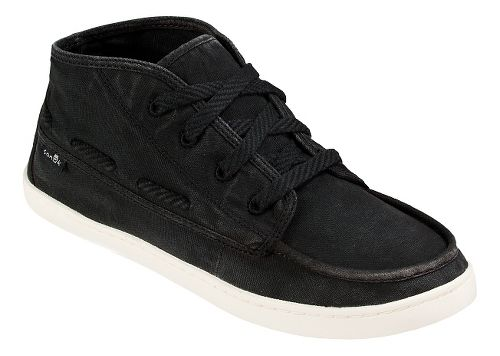 Womens Sanuk Vee K Shawn Casual Shoe - Washed Black 8