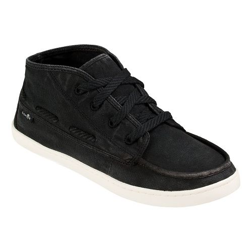 Womens Sanuk Vee K Shawn Casual Shoe - Washed Black 5