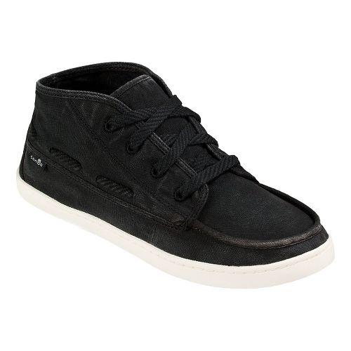 Womens Sanuk Vee K Shawn Casual Shoe - Washed Black 7