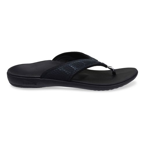 Mens Spenco Breeze Sandals Shoe - Charcoal 8
