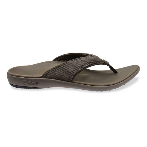 Mens Spenco Breeze Sandals Shoe - Medium Grey 7