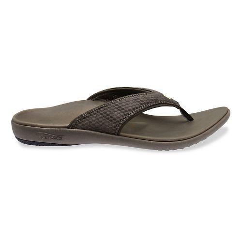 Mens Spenco Breeze Sandals Shoe - Medium Grey 9