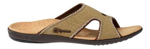Mens Spenco Kholo Canvas Slide Sandals Shoe - Beige/Cork 9