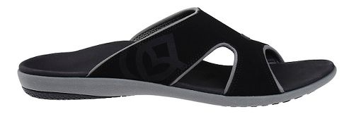 Mens Spenco Kholo Slide Sandals Shoe - Black/Grey 10