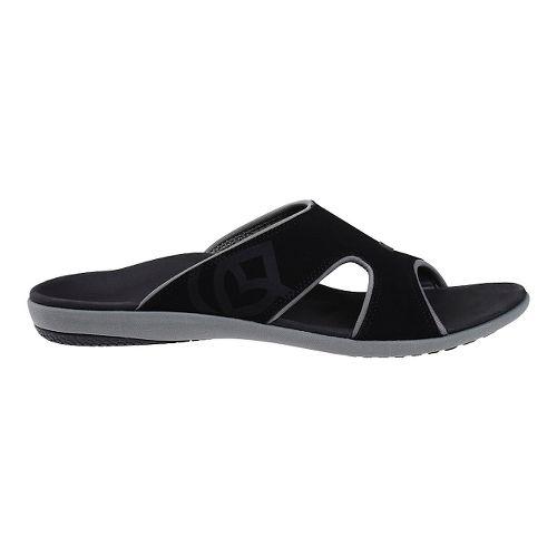 Mens Spenco Kholo Slide Sandals Shoe - Black/Grey 8