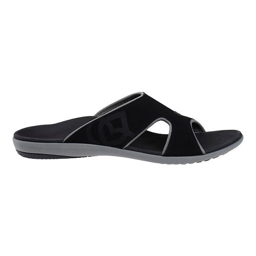 Mens Spenco Kholo Slide Sandals Shoe - Black/Grey 9