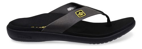 Mens Spenco Pure Sandals Shoe - Black 13