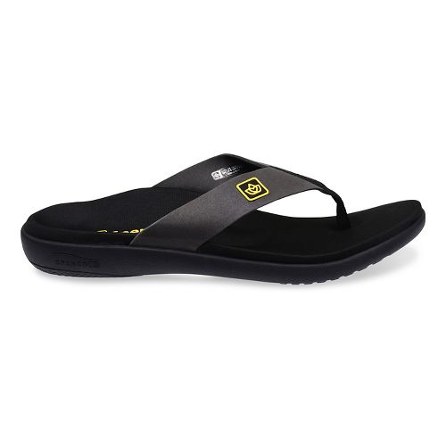 Mens Spenco Pure Sandals Shoe - Black 7