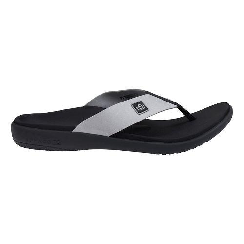 Mens Spenco Pure Sandals Shoe - Ash 12