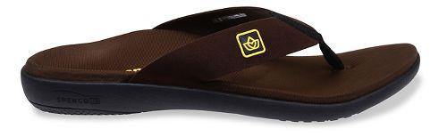 Mens Spenco Pure Sandals Shoe - Brown 8