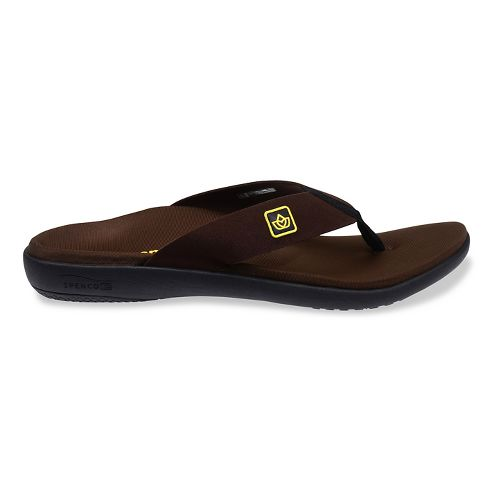 Mens Spenco Pure Sandals Shoe - Brown 14