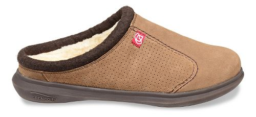 Mens Spenco Supreme Slide Casual Shoe - Warm Brown 13