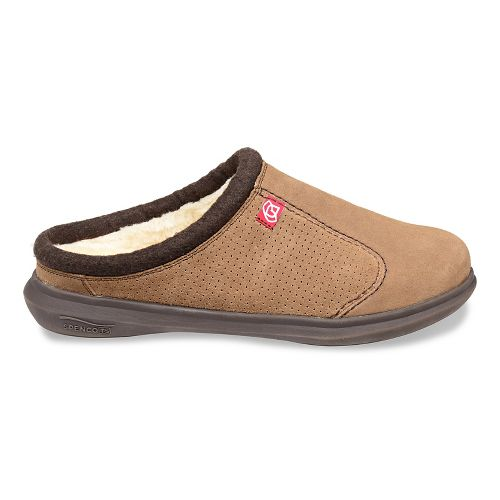 Mens Spenco Supreme Slide Casual Shoe - Warm Brown 7