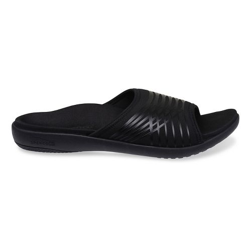Mens Spenco Thrust Slide Sandals Shoe - Black 9