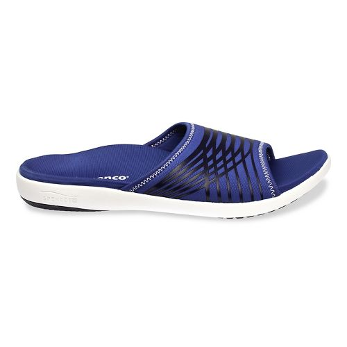 Mens Spenco Thrust Slide Sandals Shoe - Navy 9