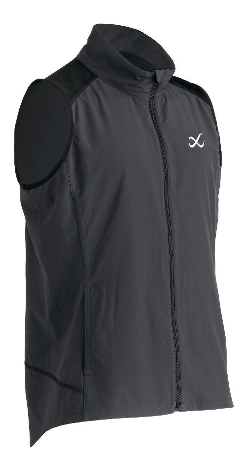 Mens CW-X Endurance Run Vests Jackets - Charcoal Grey L