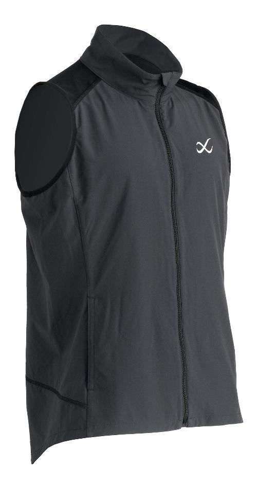 Mens CW-X Endurance Run Vests Jackets - Charcoal Grey M