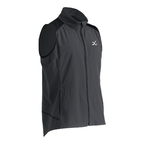 Mens CW-X Endurance Run Vests Jackets - Charcoal Grey M