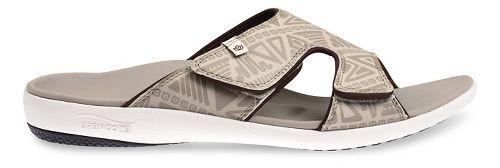 Mens Spenco Tribal Slide Sandals Shoe - Light Grey 11