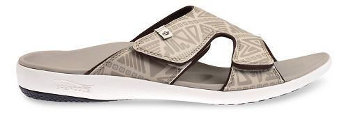 Mens Spenco Tribal Slide Sandals Shoe - Light Grey 9