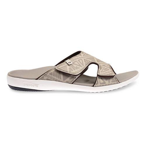 Mens Spenco Tribal Slide Sandals Shoe - Light Grey 8