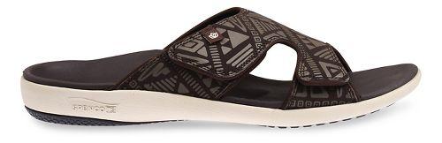 Mens Spenco Tribal Slide Sandals Shoe - Brown/Beige 14