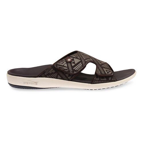 Mens Spenco Tribal Slide Sandals Shoe - Brown/Beige 8