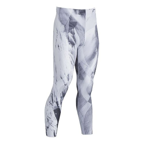 Mens CW-X Generator Revolution Tights & Leggings Pants - Mt. Fuji Print S