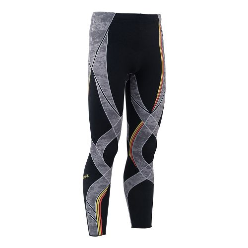 Mens CW-X Generator Revolution Tights & Leggings Pants - Black/Stone Orange S