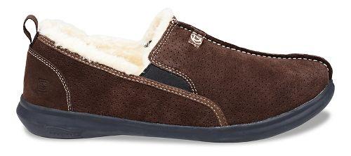 Mens Spenco Supreme Slipper Casual Shoe - Dark Brown 9