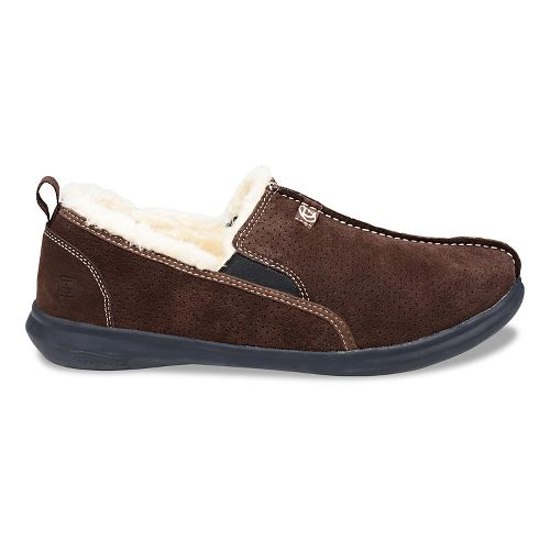 Mens Spenco Supreme Slipper Casual Shoe - Dark Brown 10