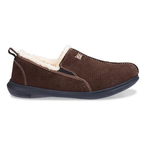 Mens Spenco Supreme Slipper Casual Shoe - Chocolate 9